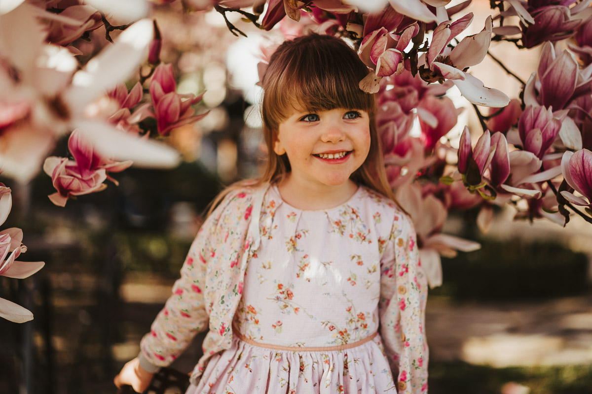 familienshooting warendorf familie kinder babybauch magnolien - karina sowa