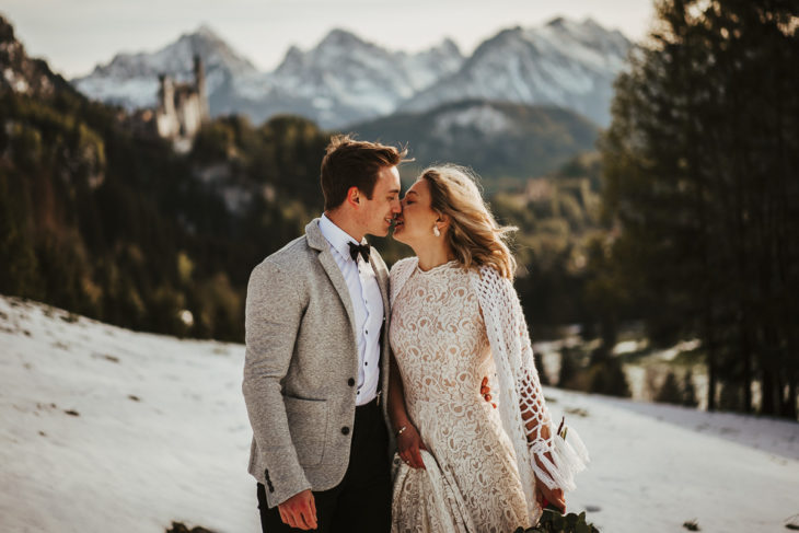 Alpen Tegelberg Hochzeitsshooting Schloss Neuschwanstein